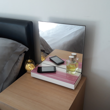 Load image into Gallery viewer, Pink & Pearl Bedside Mirror - Reflexim
