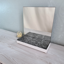 Load image into Gallery viewer, Black White Silver Bedside Mirror - Reflexim