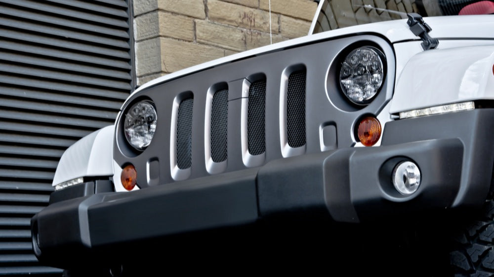 Special Offer: Jeep Wrangler Front Grille Industrial Mesh