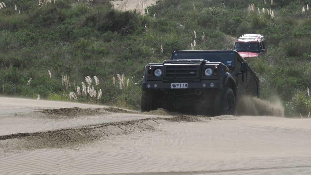Off Roading Up The Poutu Peninsula In A Chelsea Truck Company Defender 90 Wide Track