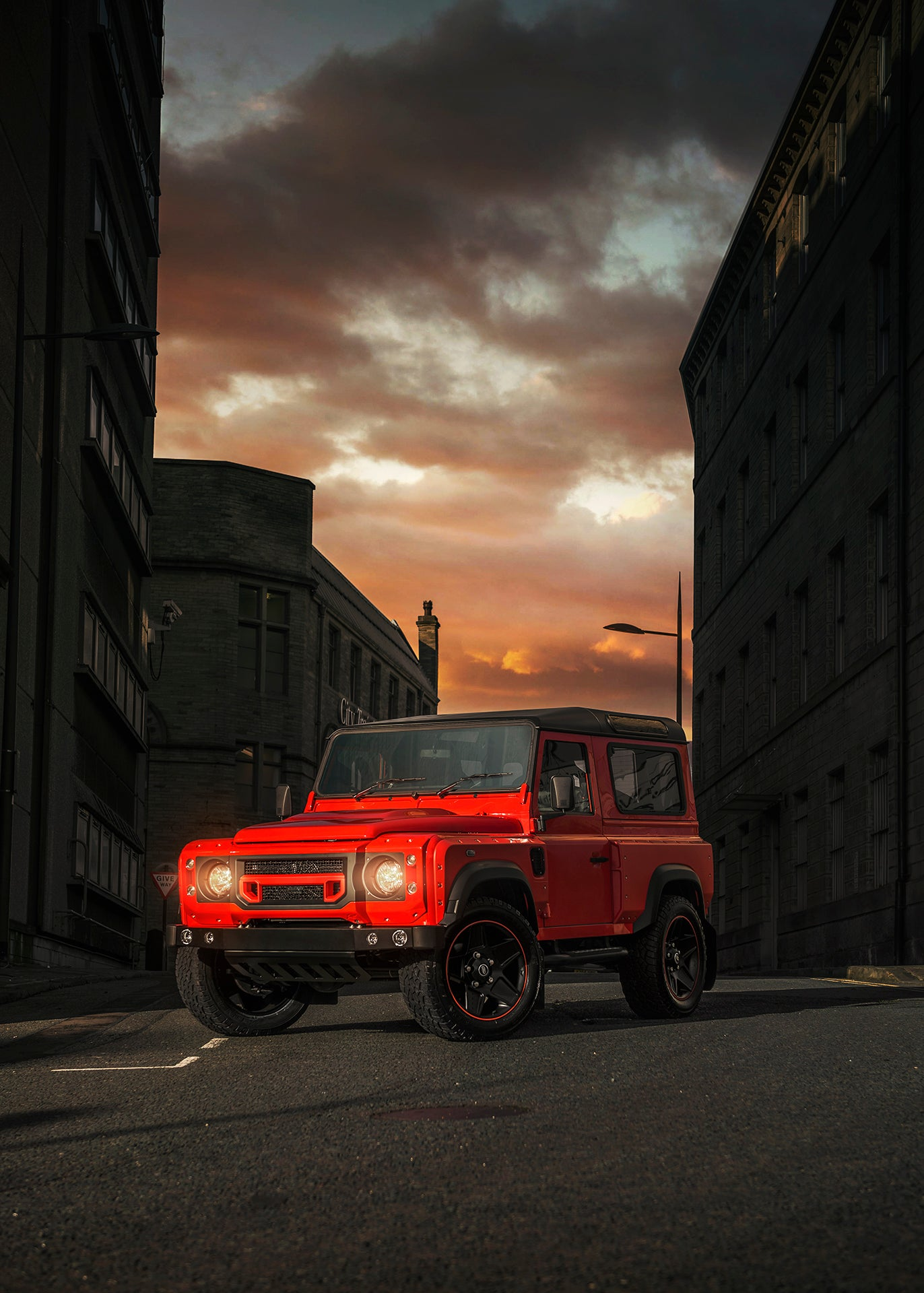 Chelsea Truck Company Lava Orange Defender Is Ready To Erupt!