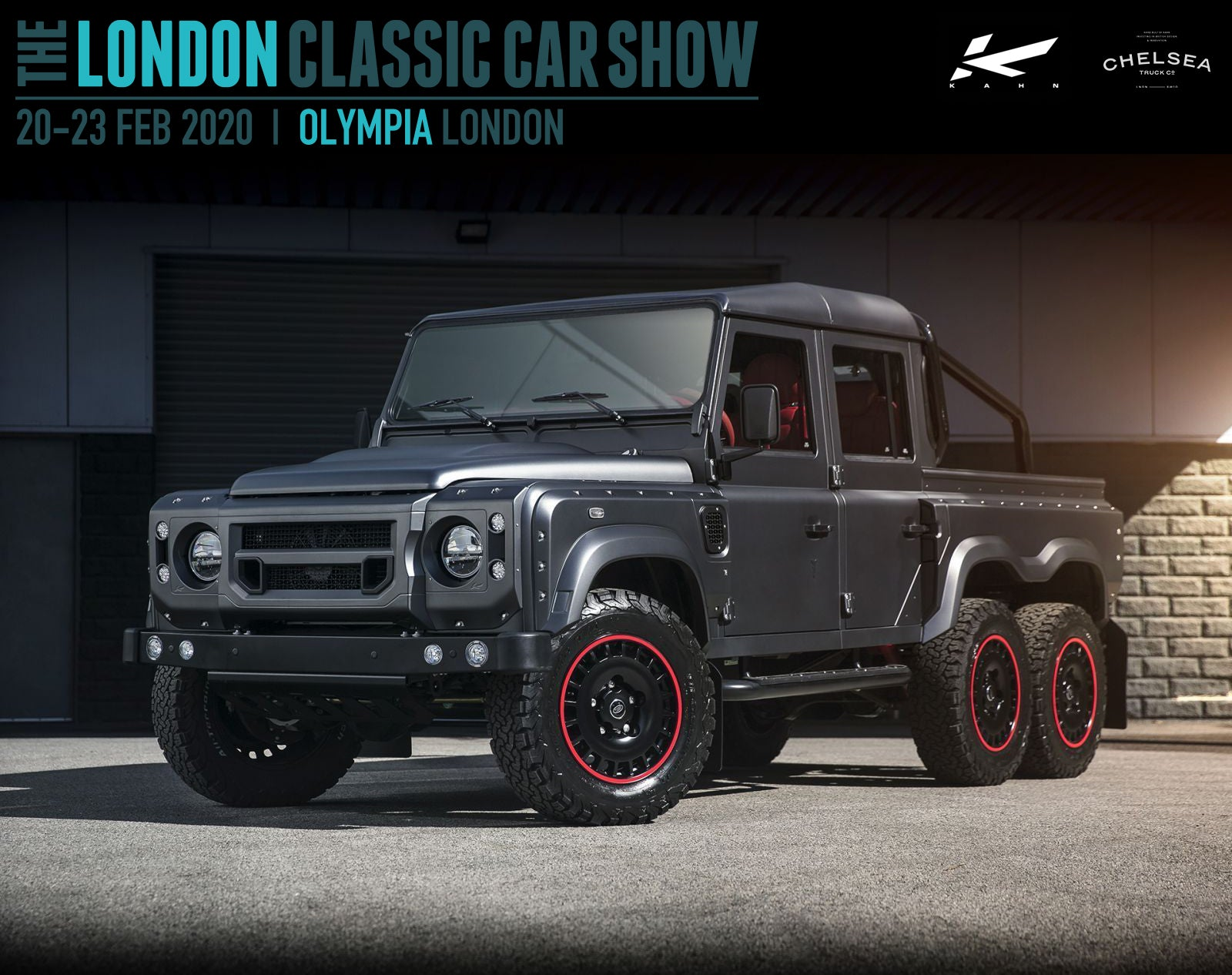 Chelsea Truck Company and Kahn Design at the London Classic Car Show