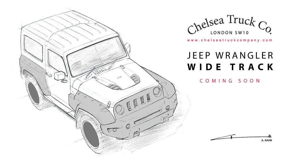 First sketches of the Wide Track styling package for the Jeep Wrangler from Chelsea Truck Company