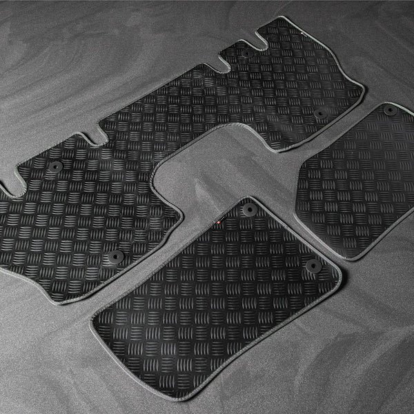 Jeep Wrangler Jl (2018-Present) Chequered Rubber Mats - 4 Door by Chelsea Truck Company - Image 646