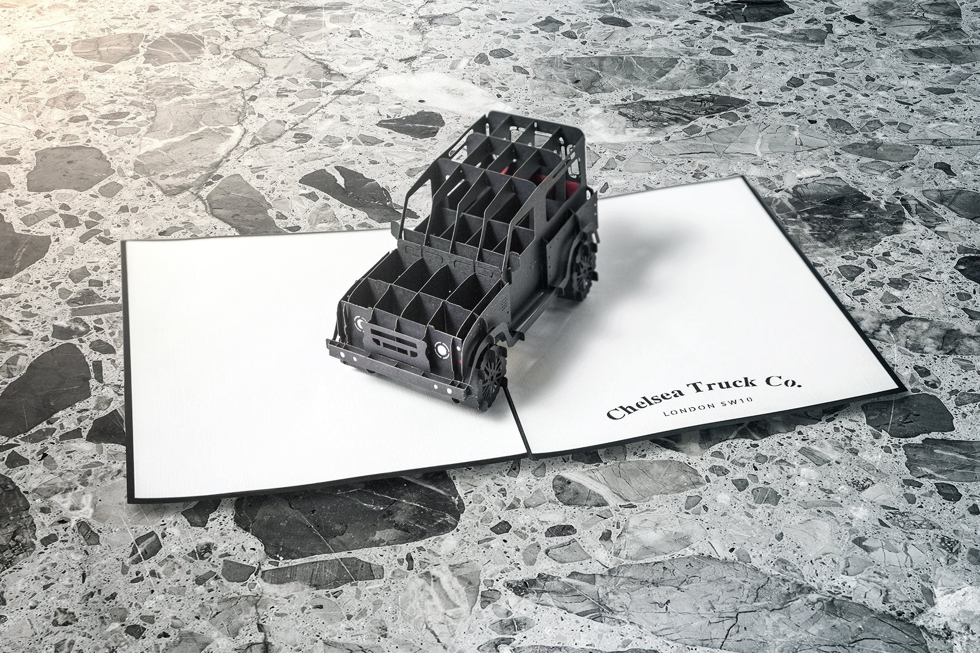 Land Rover Defender 90 (1991-2016) Chelsea Truck Co 3D Greeting Card