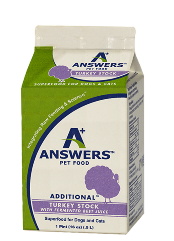 Answers - Turkey Stock with Fermented Beet Juice Pint - 16oz