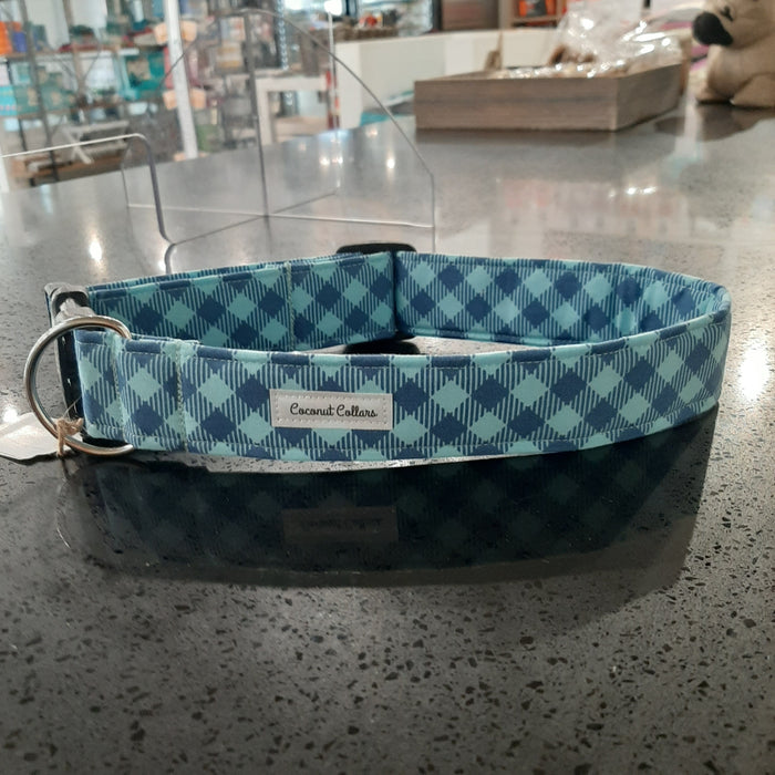 Coconut Collars - Blue Check