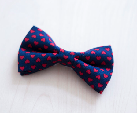 Darling Dear - Navy with red hearts