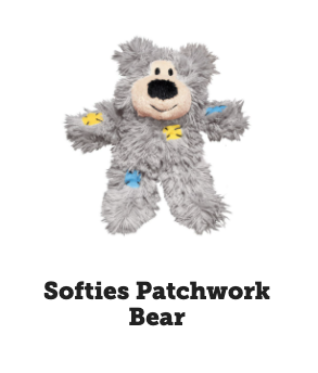 Kong - Cat Toys - Softies Patchwork Bear
