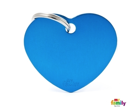 My Family Tag - Blue Heart