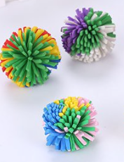 Soft Foam Pom Pom Ball - Kitty Toy