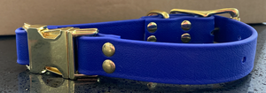 DogDog Goose Biothane Collar - Royal Blue with Brass Buckle
