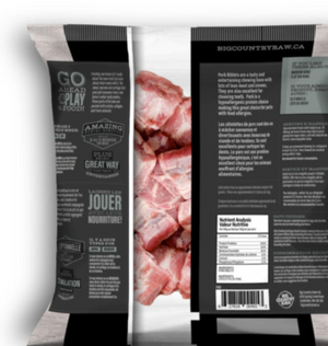 Big Country Raw - Pork Riblet - 1 lb bag