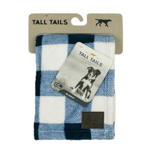 Tall Tails - Fleece Blanket - Navy Plaid