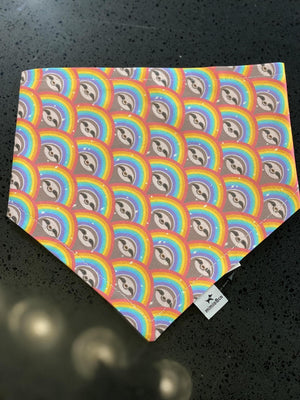 Mimio & Co Bandanas - Rainbow Sloths