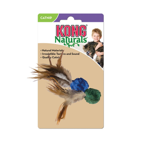 Kong - Cat Toys - Crinkle Ball w/ Feathers