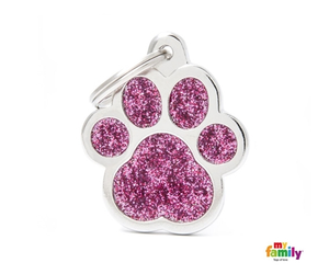 My Family Tag - Shine - Pink Paw