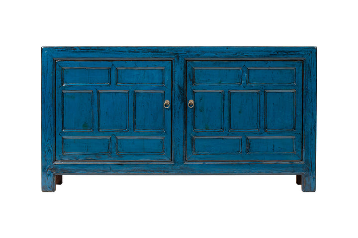 Blue 2 Door Sideboard, Poplar. New