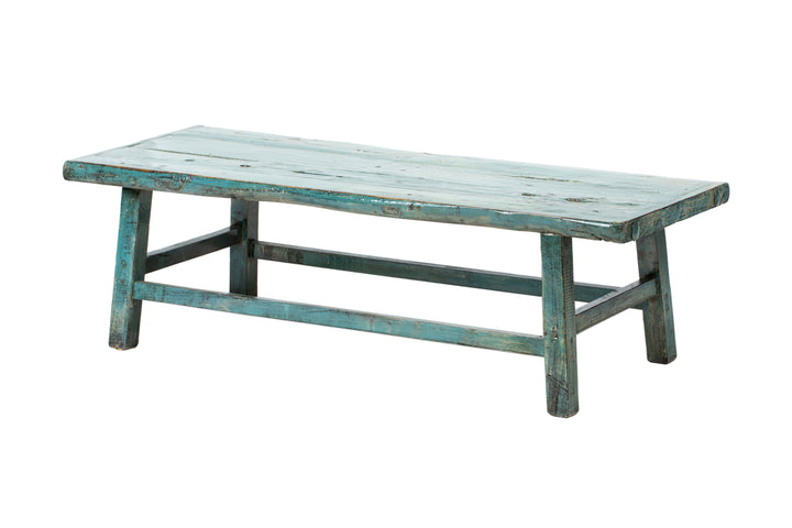 Vintage Blue-Green Shandong Low Table, Circa 60 Y/O