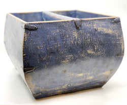 Large Blue/Purple Antique Rice Measure, Circa 100 Y/O. Hebei.