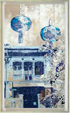 The Blue Lanterns by Deborah McKellar, Limited Edition Framed Print on Canvas