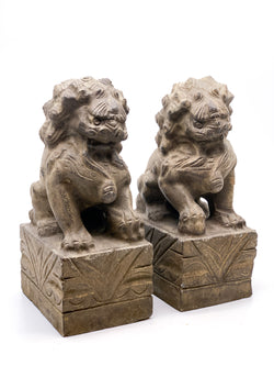 Pair of Stone Foo dogs