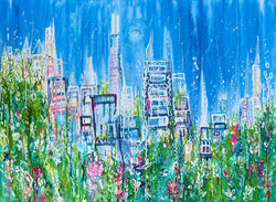 Summer in the City by Samantha Redfern Print on Canvas