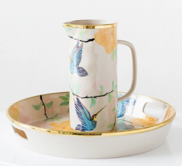 Tropicana Tray & Jug Set by Bowerbird