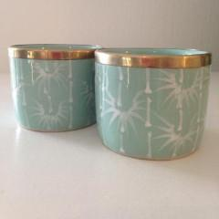 Mint Bamboo Tea Light by Bowerbird