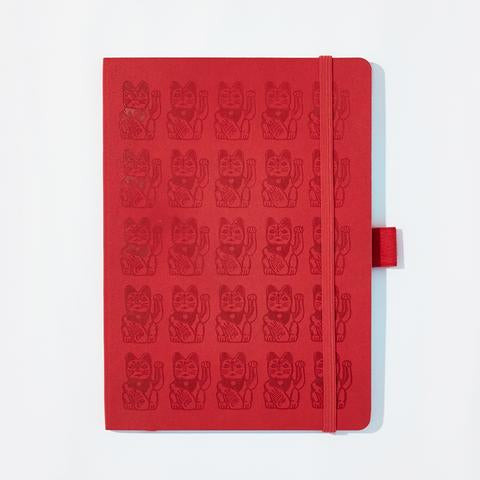 Pinyin Press Notebook NOTEBOOK, Lucky Cat (other colours available)