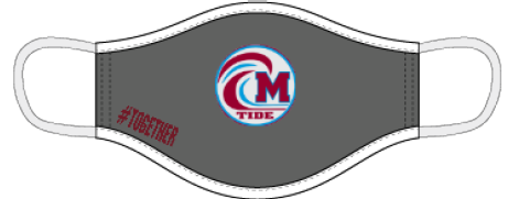 Minden Crimson Tide Three-layer Facemask