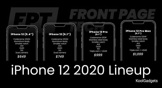 iPhone 12 expected to come in 4 variants