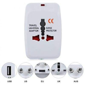 IGADG Universal Travel Adapter With Dual USB - White KoolGadgets