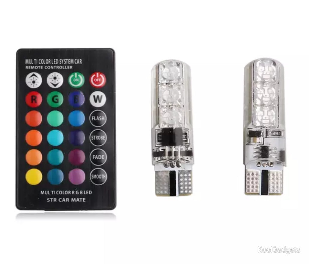 Multicolour Car LED parking light with remote control