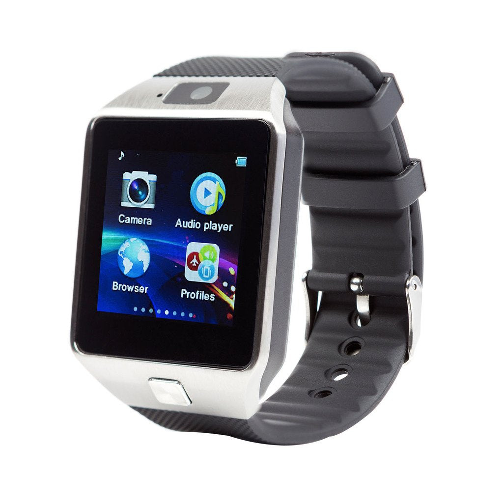 SmartWatch with Bluetooth, Capacitive Touch Screen, Camera, Sim Card Support Compatible with All 3G, 4G Android/iOS Smart Phones (Silver/Gold/Black) KoolGadgets