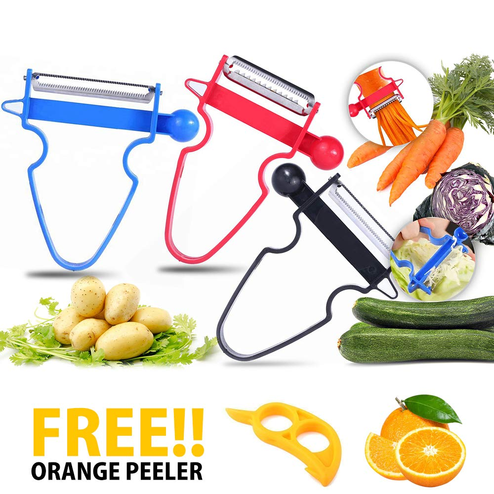 Magic Trio Peeler with Sharp Stainless Steel Blades KoolGadgets