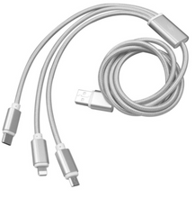 Load image into Gallery viewer, 3 in 1 Long Data Cable With Fast Charge - 1.5 Metre KoolGadgets