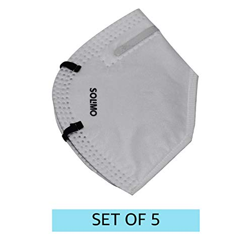 N95 Protection Mask from Amazon Brand - Solimo (Pack of 5)