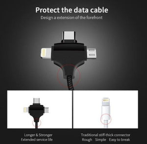 Joyroom 3 in 1 Data Cable  (Micro USB + Lightning + Type C) KoolGadgets