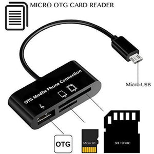 3 in 1 USB Adapter with OTG, Micro SD Card, and SD Card Slots