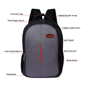 Fur Jaden 15.6 Inch Laptop Backpack 25 LTR Bag for School, College and Office with USB Charging Port