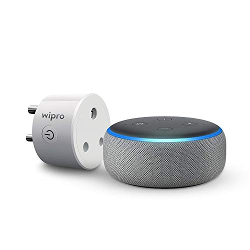 Smart Home combo kit for AC - Echo Dot bundle with Wipro 16A smart plug