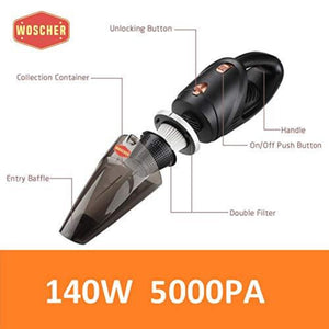 Woscher 2003 High Power Portable Car Vacuum Cleaner