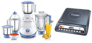Prestige Iris(750 Watt) Mixer Grinder + Prestige PIC 20 1200 Watt Induction Cooktop with Push Button (Black)