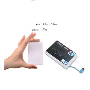 2500 mAH Ultra Slim Credit Card Size Power Bank