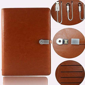 Power Bank Executive Diary With Wireless Charging, 16 GB Pen Drive & 5000mAH Power Bank