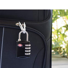Load image into Gallery viewer, TSA Approved 4 Digits Lock Steel Padlocks for Suitcases & Baggage