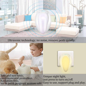 iGADG Ultrasonic pest Repeller with Night Lamp KoolGadgets