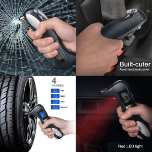 iGADG 5 in 1 Portable Digital Tyre Pressure Gauge Emergency Tool KoolGadgets