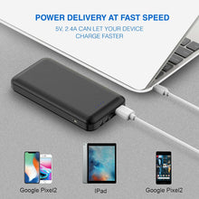 Load image into Gallery viewer, 10000mAH Power Bank With Inbuilt Cables For All Smartphones Power Bank ${{shop-name}
